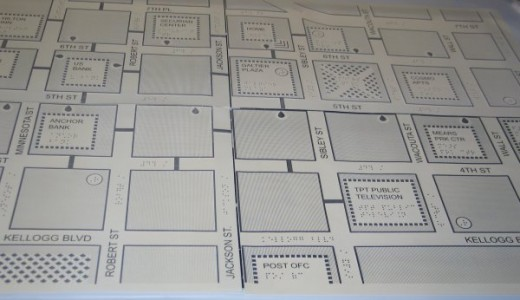 Image of a portable tactile map for Saint Paul, Minnesota